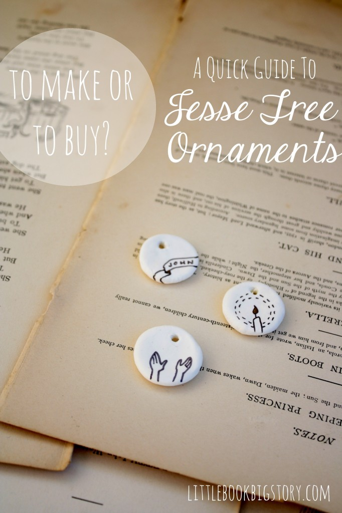 Ideas for how to make or where to buy Jesse Tree Ornaments | Little Book, Big Story