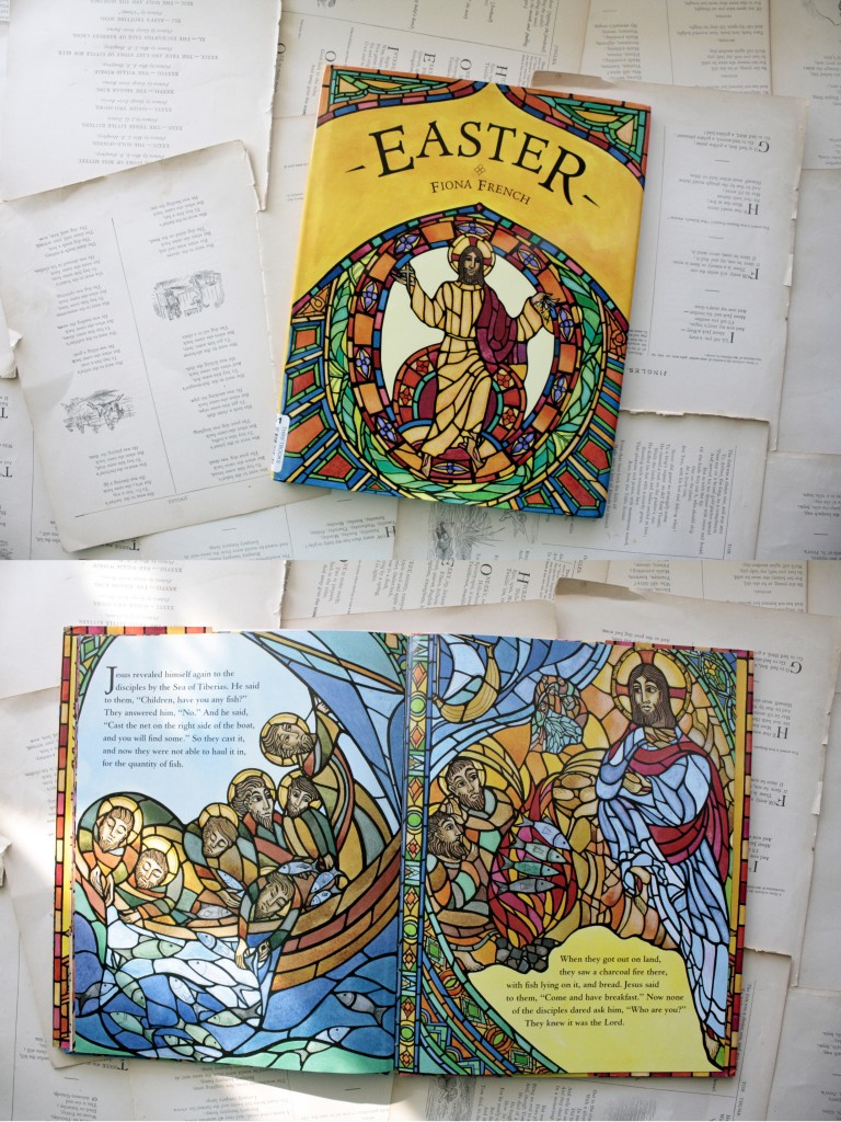 Easter, by Fiona French: an ornately illustrated yet simply told version of the Easter story, from Triumphal Entry to Christ's Ascension | Little Book, Big Story