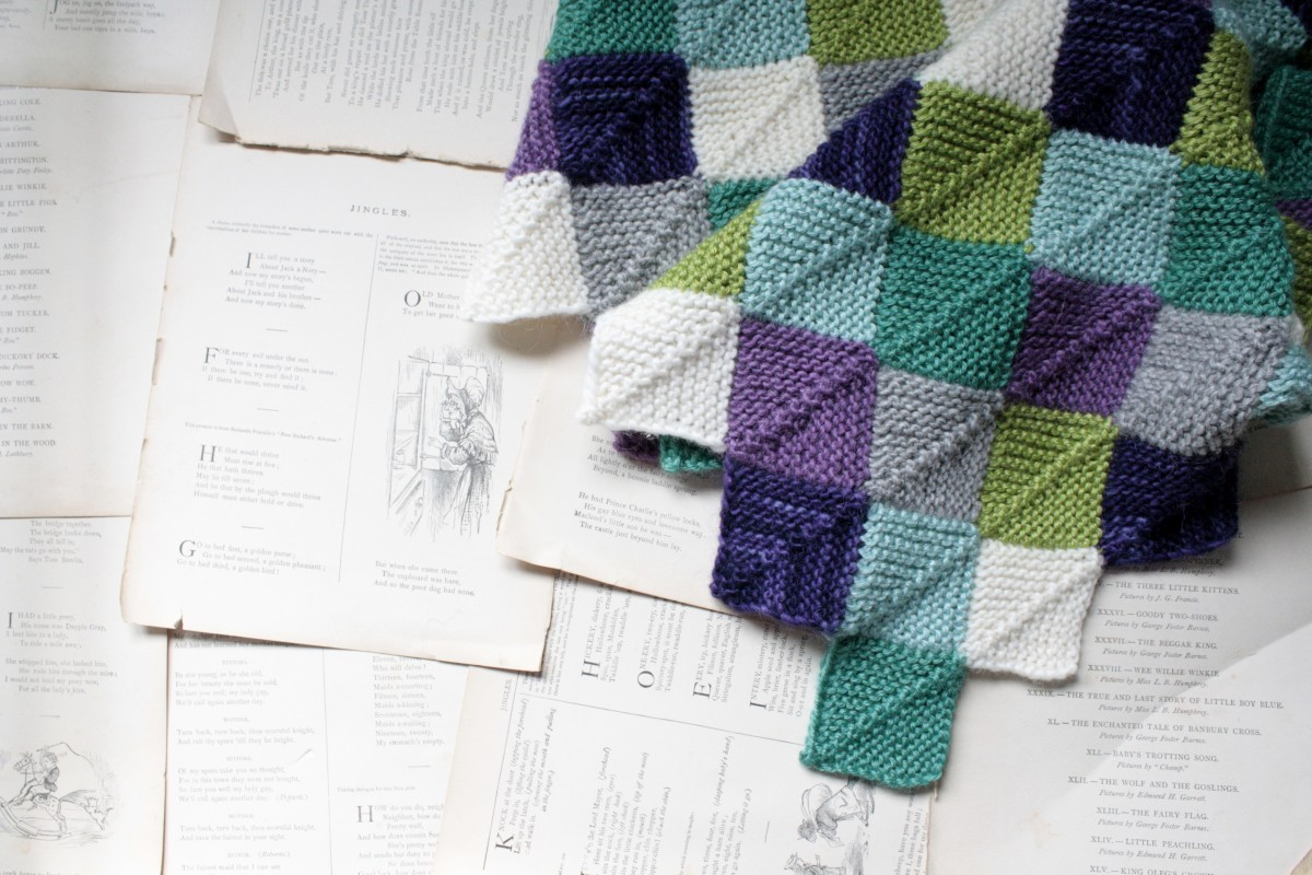 Knitted patchwork baby blanket | Little Book, Big Story