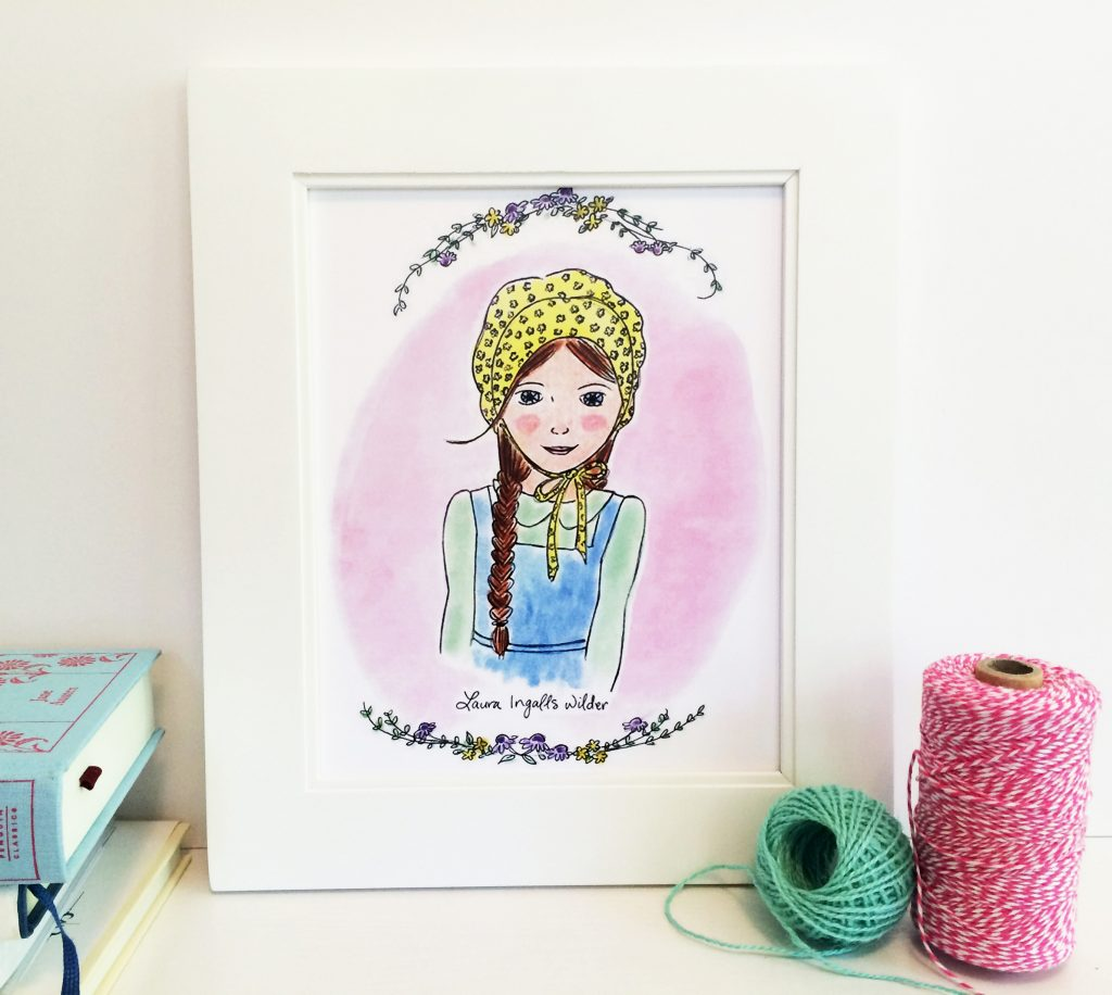 Laura Ingalls Wilder Print, from Carrot Top Paper Shop | Little Book, Big Story