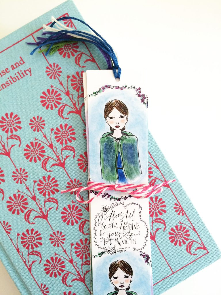 Jane Eyre bookmark, by Carrot Top Paper Shop | Little Book, Big Story