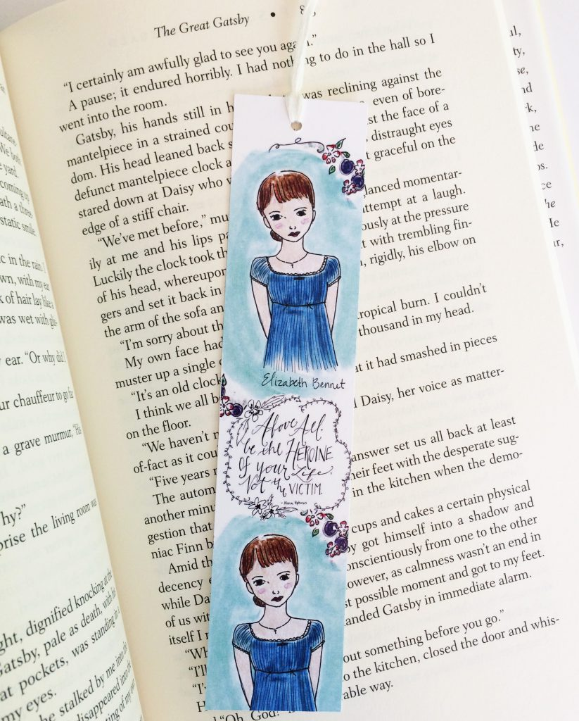 Elizabeth Bennett bookmark, by Carrot Top Paper Shop | Little Book, Big Story