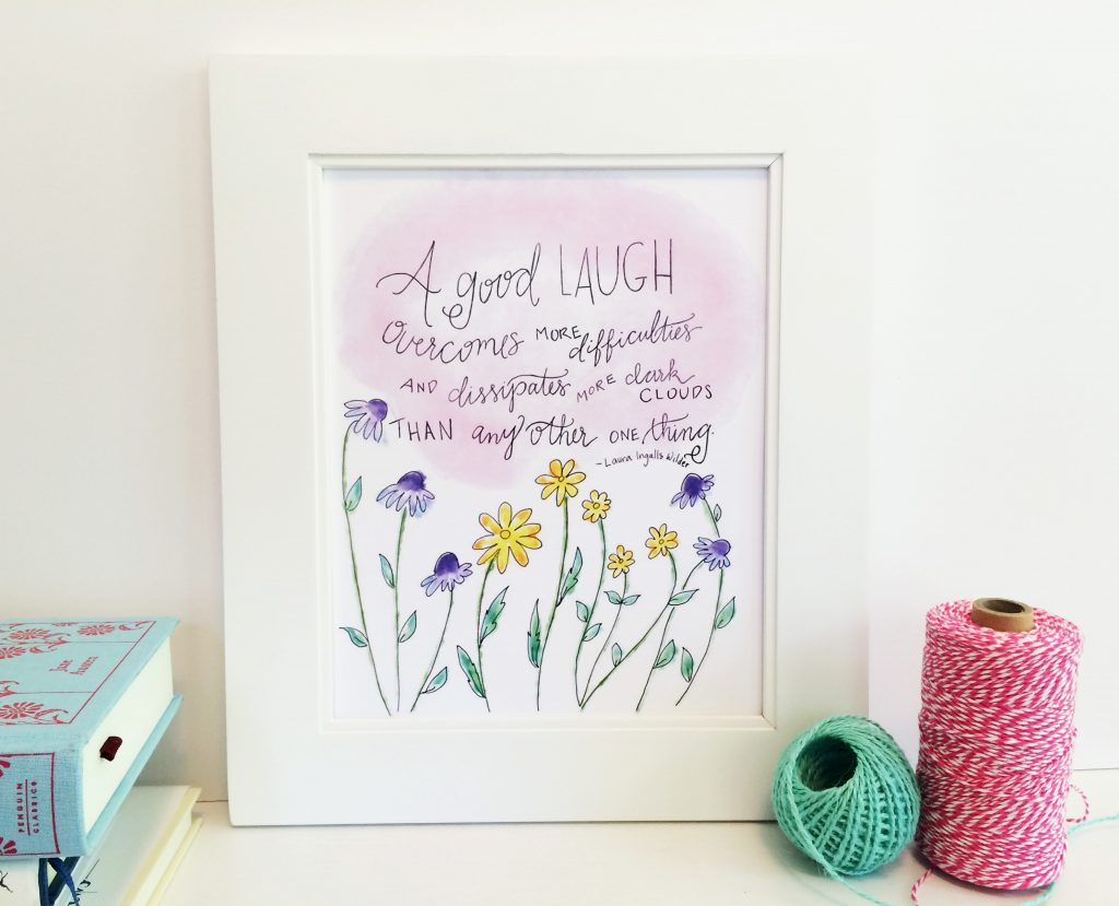 Laura Ingalls Wilder Quote, from Carrot Top Paper Shop | Little Book, Big Story