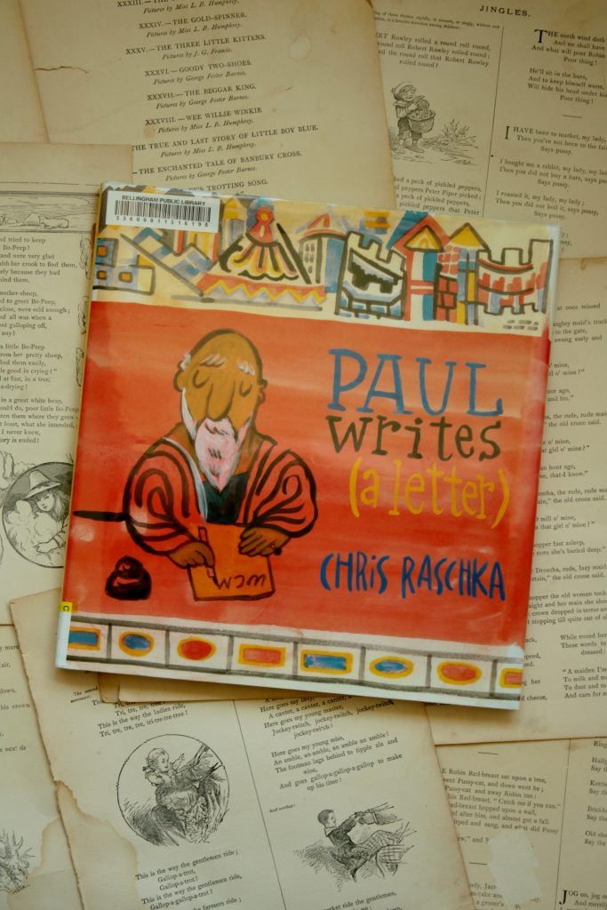 Paul Writes (a Letter), by Chris Raschka | Little Book, Big Story